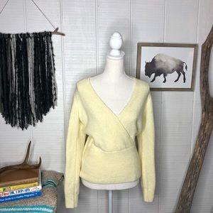 Something Navy cream alpaca blend soft sweater